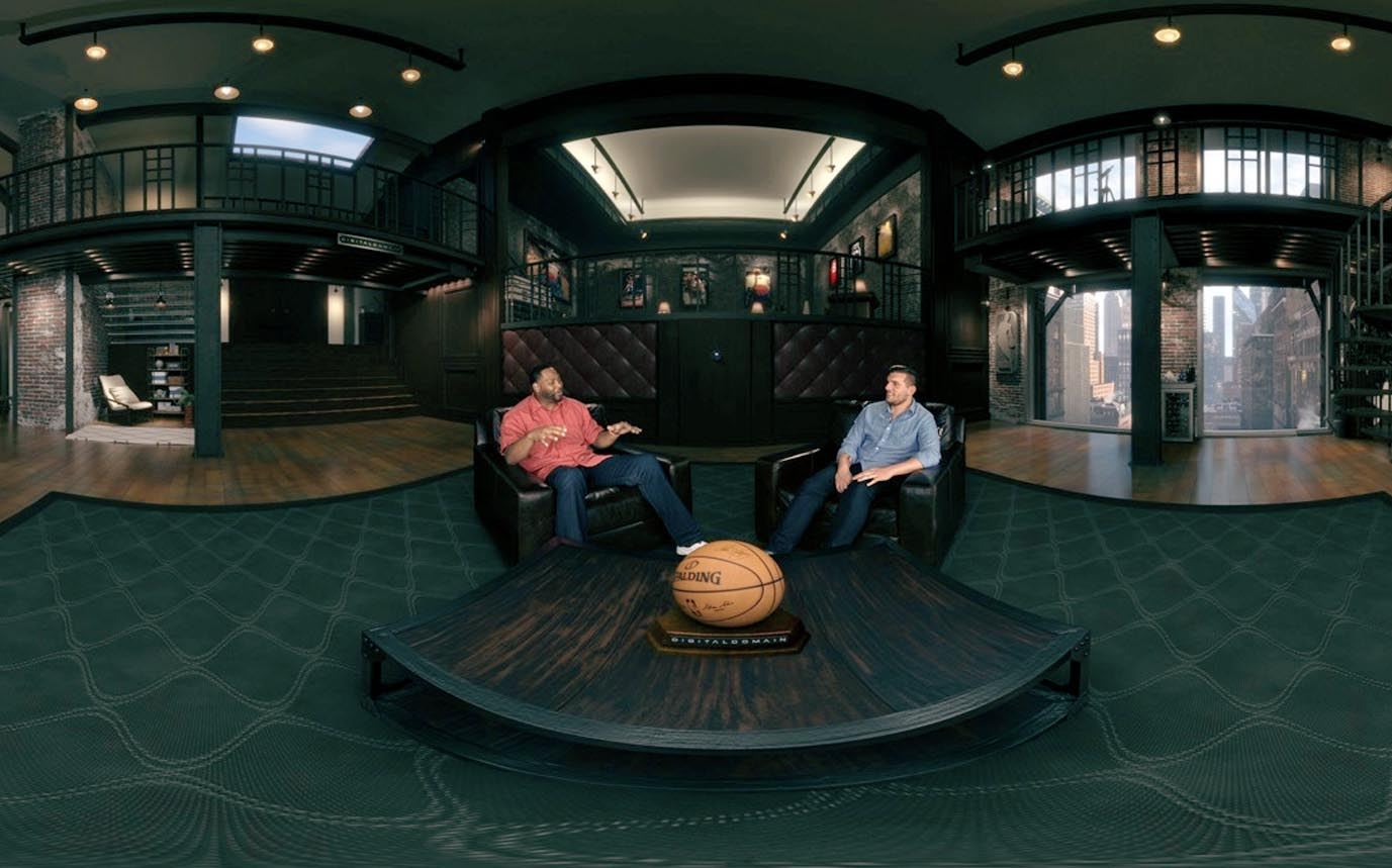 Screenshot from Google Daydream NBA Virtual Reality Experience